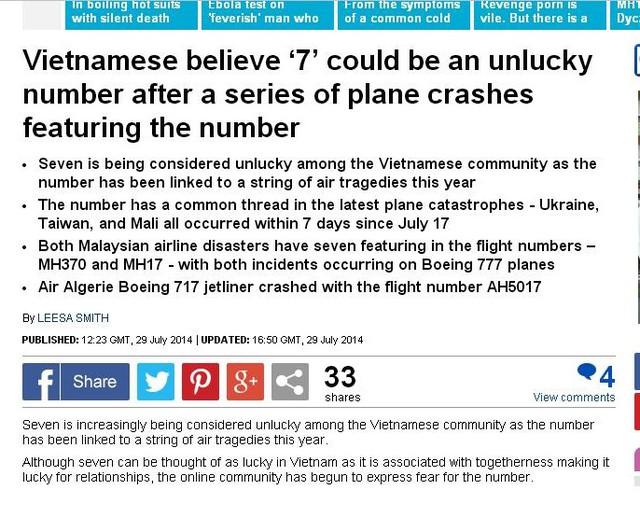 Bài báo được đăng tải trên Dailymail.