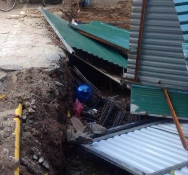 Hiện trường xảy ra vụ xô xát giữa ông Bài và cán bộ thị trấn Yên Viên