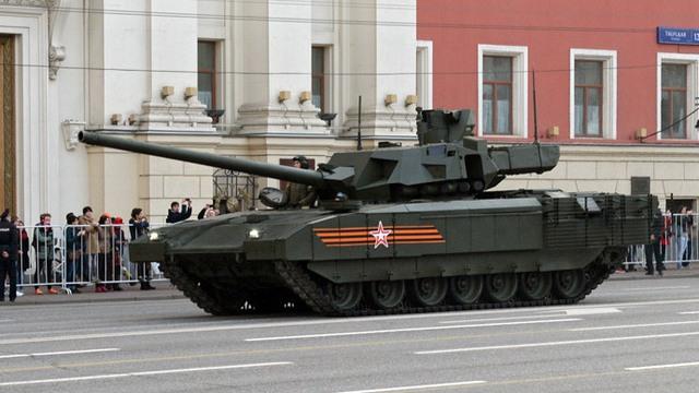 A T-14 tank of the Armata Universal Combat Platform. (RIA Novosti / Mikhail Voskresenskiy)