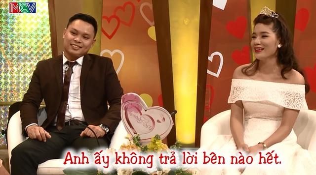 Cặp đôi Việt Cường và Lê Thúy trong chương trình Vợ chồng son (Ảnh cắt từ clip).