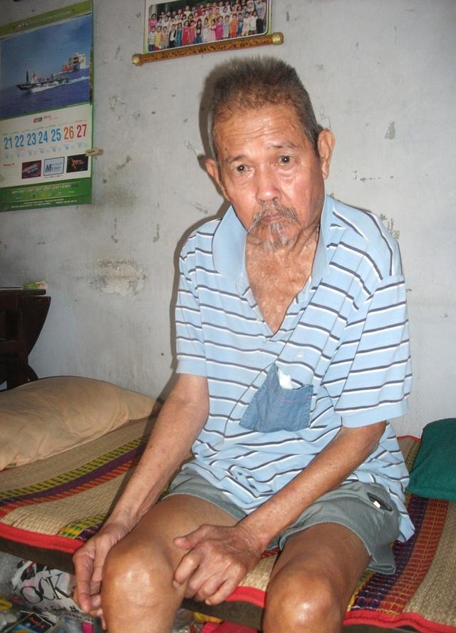 Ông Tịnh giờ đã rất già yếu lại mang bệnh.