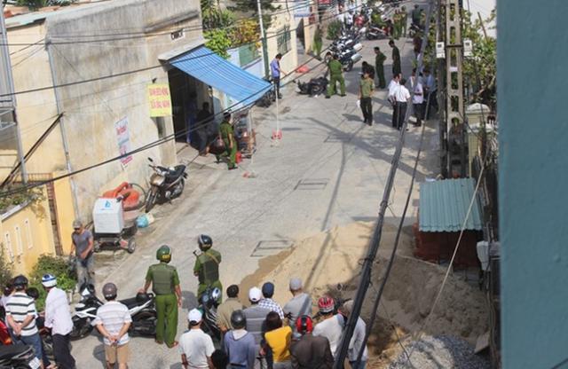 Hiện trường vụ nổ súng khiến 1 người Trung Quốc trọng thương. (Ảnh: Lao động)
