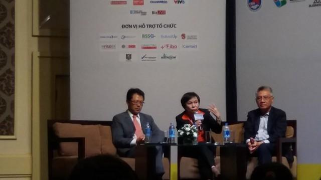 Nữ tướng PNJ chia sẻ tại Vietnam CEO Forum 2015 - Ảnh: Huyền Trâm.