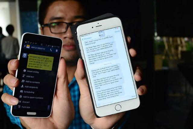 """Nhiều người sử dụng dịch vụ của các nhà mạng cho biết bỗng dưng họ bị chặn việc gửi tin nhắn với lý do """"vượt hạn mức số lượng tin"""". Ảnh minh họa."""