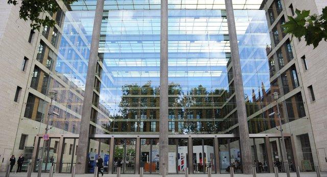 Mặt trước của tòa nhà Bộ ngoại giao Đức (Ảnh: AFP)
