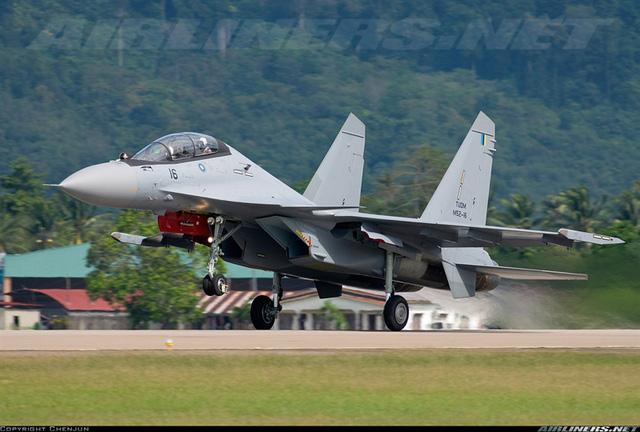 """Ngoài radar, hệ thống điện tử hàng không của Su-30MKM có nhiều khác biệt lớn so với máy bay Mỹ.  Theo đó, Su-30MKM không hoàn toàn dùng """"hàng Nga"""" mà pha trộn cả """"hàng Pháp, Nam Phi"""" gồm: hệ thống định vị hồng ngoại nhìn phía trước NAVFLIR và thiết bị chỉ thị mục tiêu laser của Pháp; cảm biến cảnh báo tên lửa và cảm biến cảnh báo laser của Nam Phi cung cấp."""