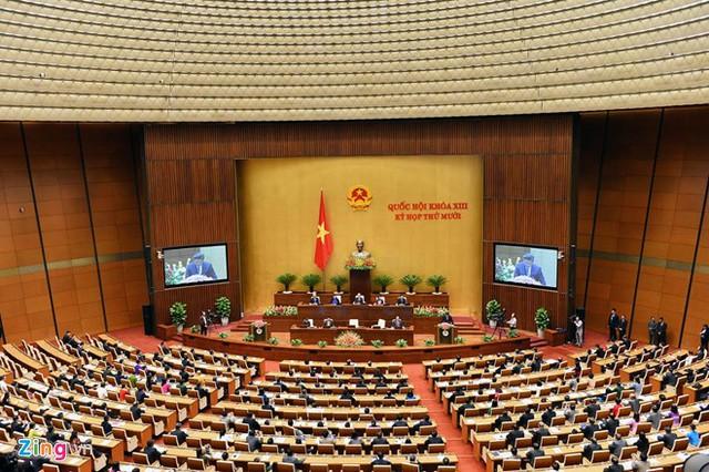 Ông Tập Cận Bình đã phát biểu 25 phút trước Quốc hội Việt Nam, dài gấp 2,5 lần dự kiến. Ảnh: Hoàng Hà/Zing.vn.