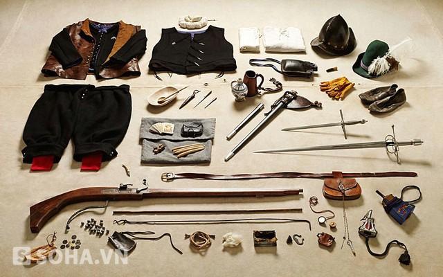 Trang phục và binh khí, phụ kiện của dân binh Tilbury, Vương quốc Anh năm 1588.