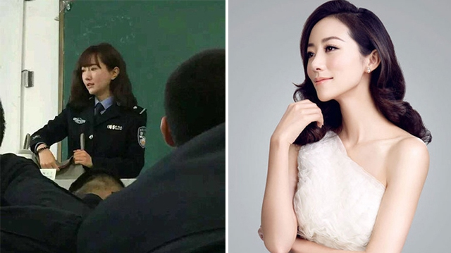 Vẻ đẹp của nữ giảng viên này được cho là có nhiều điểm tương đồng với diễn viên Hàn Tuyết.