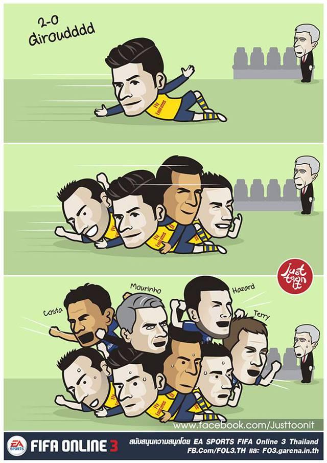 Thế nên dễ hiểu khi Người đặc biệt lao vào ăn mừng cùng Arsenal.