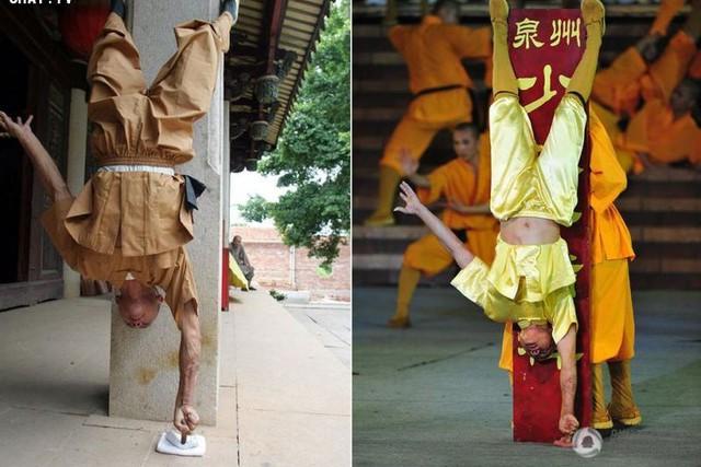 Các cao tăng Thiếu Lâm biểu diễn Nhất dương chỉ.