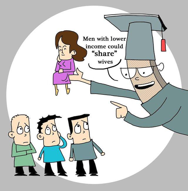 Giáo sư Xie Zuoshi đã đưa ra đề xuất những người đàn ông nghèo ở Trung Quốc nên lấy chung một vợ.