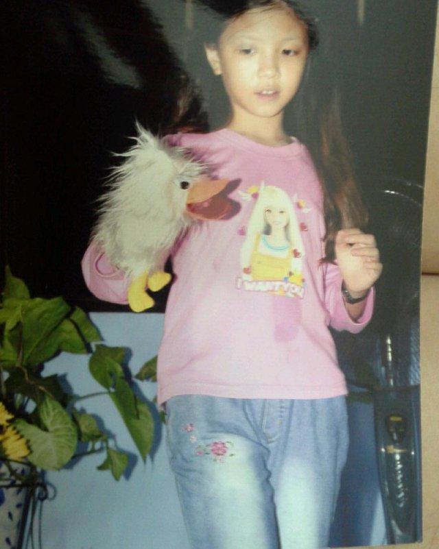 Trần Kiều Anh với mái tóc dài năm nào.