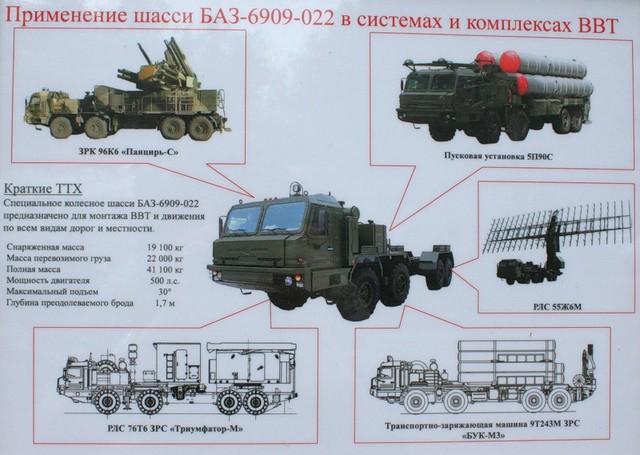 """Hệ thống khung thân và động lực của xe BAZ-6909-022 được sử dụng cho xe mang phóng tự hành 5P90S của Hệ thống TLPK S-400 """"Triumf"""". Ảnh: bmpd.livejournal.com."""