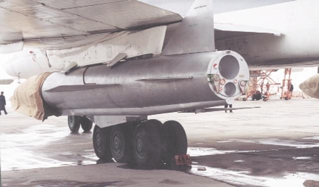 Tu-160 có thể mang 2 máy phóng MKU-6-1, tổng cộng mang được 12 tên lửa bên trong.