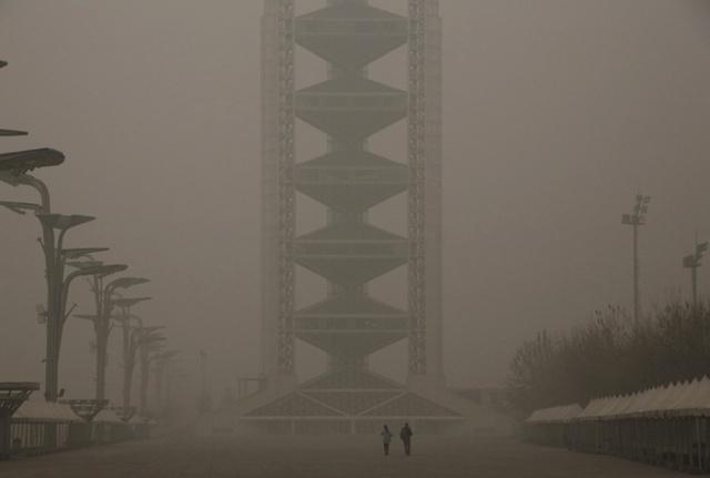 Bắc Kinh đã phải phát cảnh báo đỏ về ô nhiễm không khí.