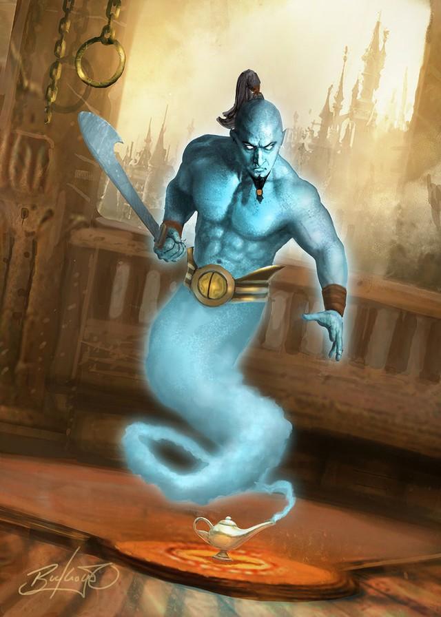Thần đèn cũng lấy hình tượng của Djinni