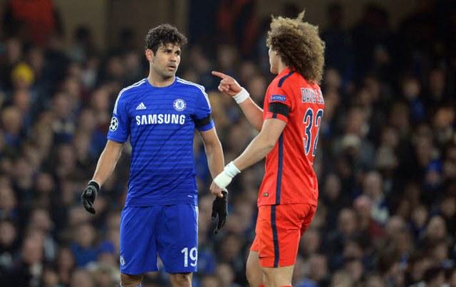David Luiz nhiều lần chọc tức Diego Costa