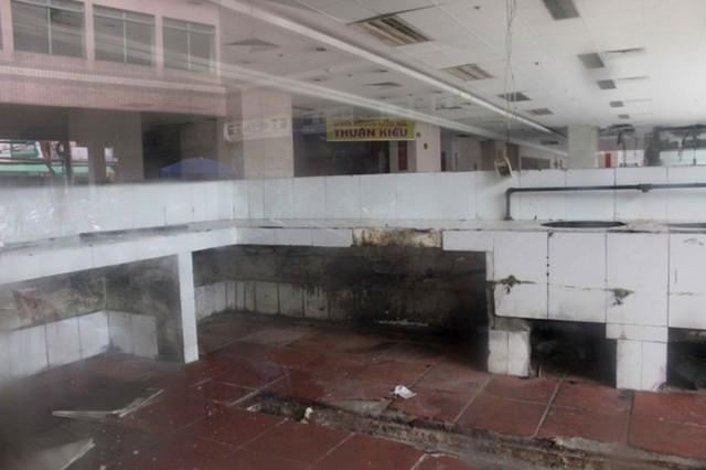 Một góc tầng trệt của dự án Thuận Kiều Plaza hiện nay
