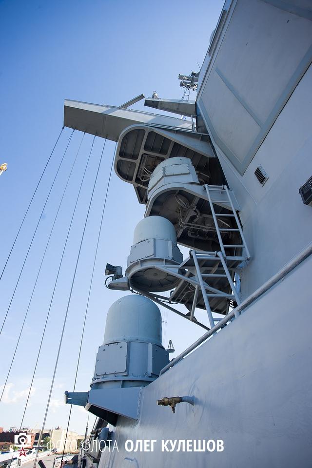 Vị trí lắp đặt hệ thống gây nhiễu TK-25, đây cũng là hệ thống gây nhiễu mới và hiện đại nhất hiện nay của Hải quân Nga.