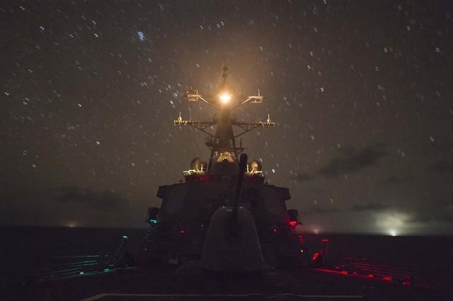 Máy bay trinh sát được Mỹ bố trí tới căn cứ Singapore để phối hợp tốt hơn với các tàu chiến của nước này tuần tra trên biển Đông. Ảnh: Huanqiu