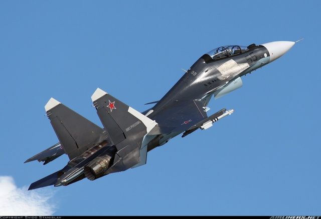 Su-30SM của Không quân Nga được phát triển từ Su-30MKI của Ấn Độ. Ảnh: Airliners.net.