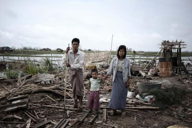 Cơn bão Nargis để lại hậu quả nặng nề khi đổ bộ vào Myanmar năm 2008