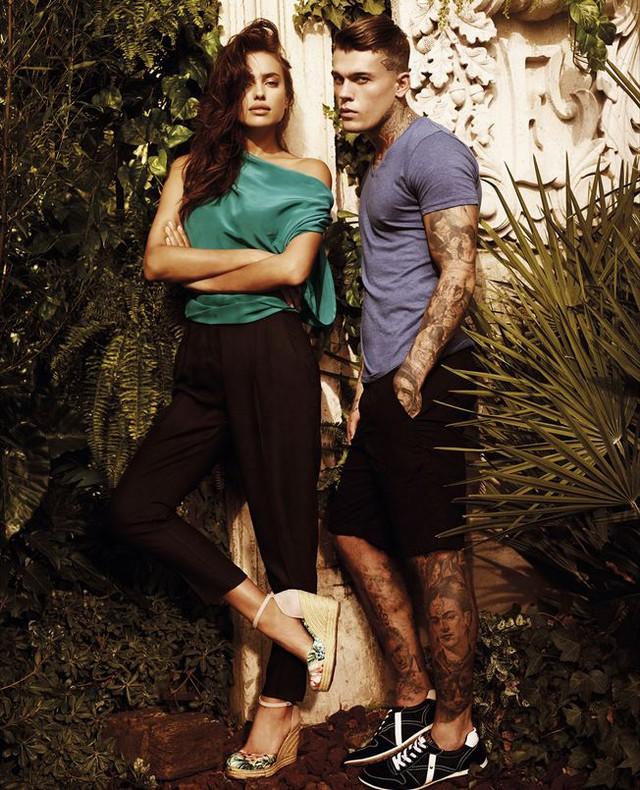 Irina và Stephen James chụp ảnh quảng cáo cho thương hiệu X Ti