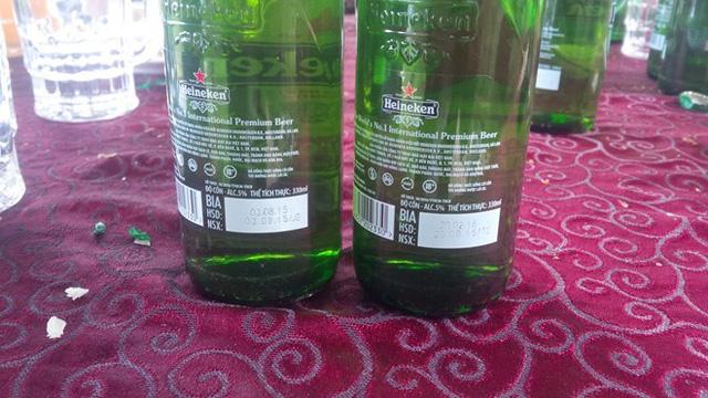 Bia Heineken đã hết hạn từ ngày 3/8/2015.
