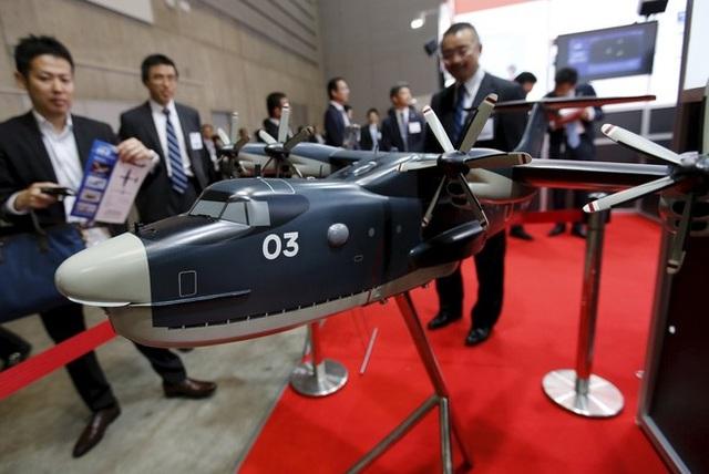 Mô hình thủy phi cơ US-2 do tập đoàn ShinMaywa Industries sản xuất tại hội chợ ở Yokohama