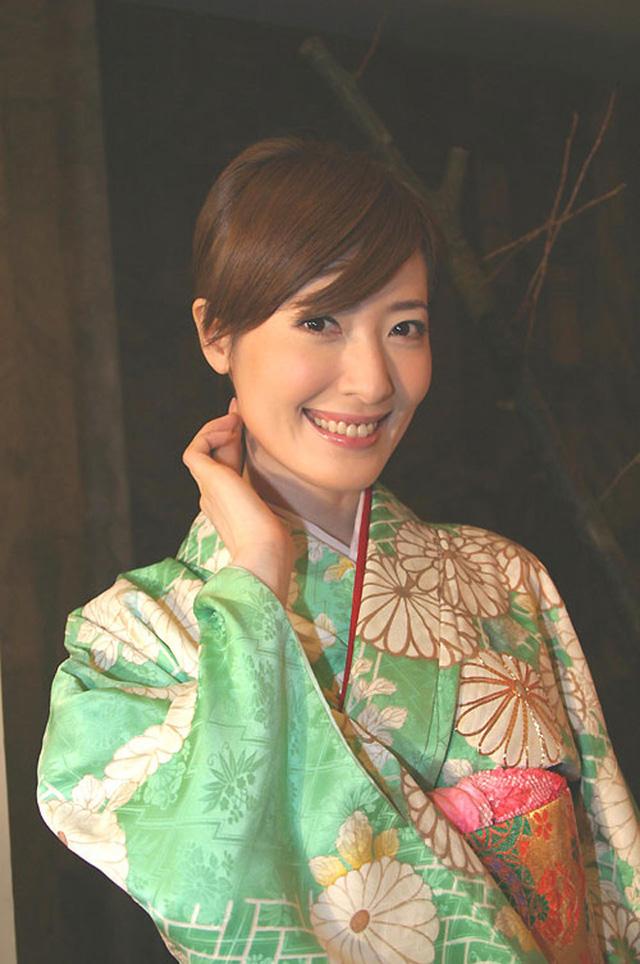 Dương Tư Mẫn trong trang phục truyền thống của Nhật Bản.
