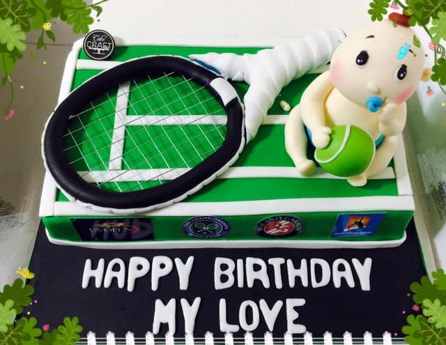 Chiếc bánh sinh nhật Tâm Tít dành tặng cho ông xã