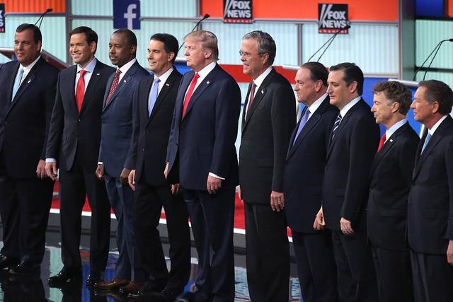 Các ứng viên đảng Cộng hòa trong cuộc tranh luận trực tuyến hôm 7/8 vừa qua. Ảnh: FOX News