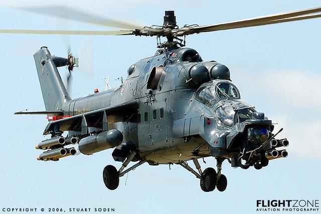 Trực thăng tấn công Mi-35 của Nga. Ảnh: FlightZone.