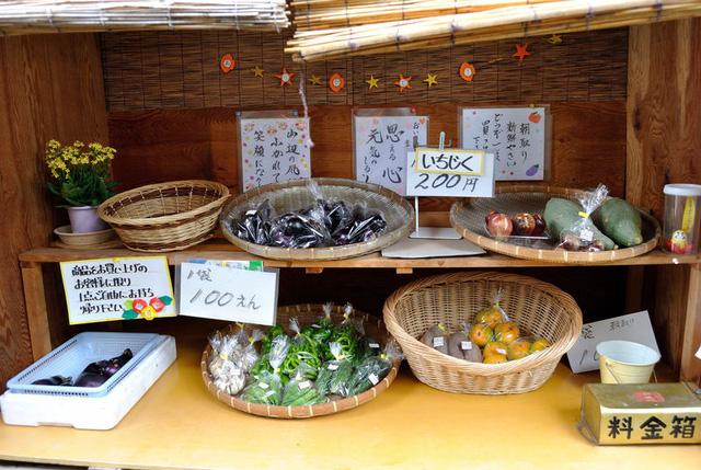 Cửa hàng rau không cần người bán tại Nhật Bản.
