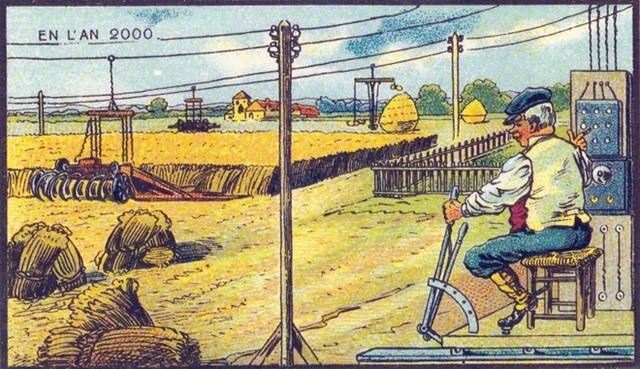 Một máy gặt lúa điều khiển từ xa? Có vẻ như con người luôn hứng thú với những thiết bị công nghệ cao.