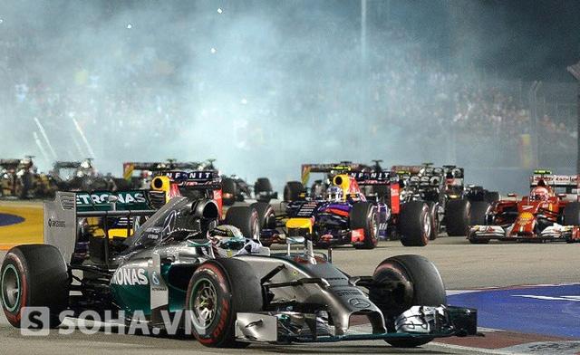 Sự kiện Mùa đua xe Grand Prix tại Singapore thu hút đông đảo giới nhà giàu trên toàn thế giới
