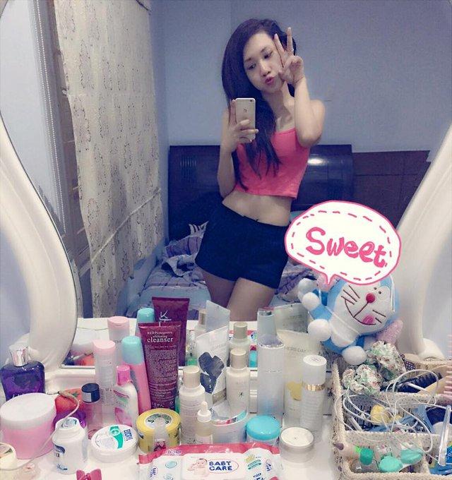 Huỳnh Tiên trông cũng mập mạp hơn cô chị.