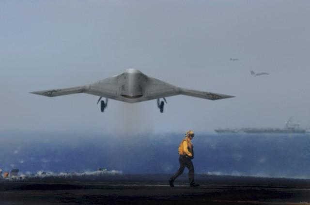 Máy bay không người lái X-47B của Hải quân Mỹ.