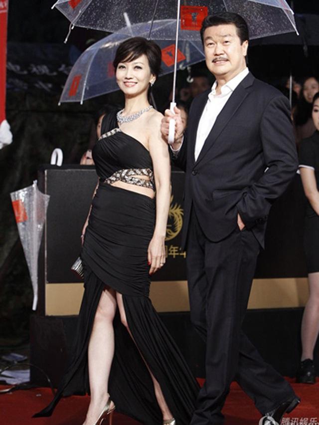 Triệu Nhã Chi và người chồng thứ hai Huỳnh Cẩm Sâm.