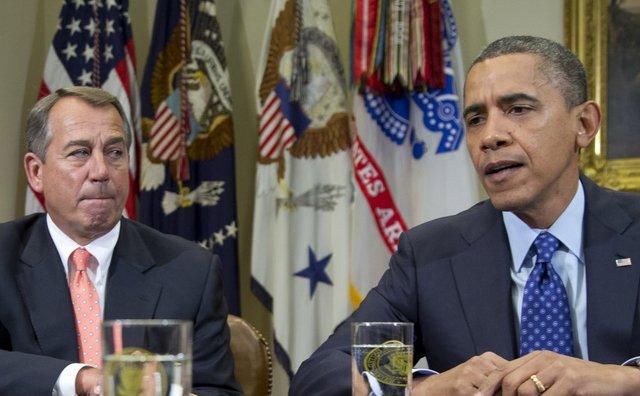 Quan hệ phức tạp giữa Boehner và Obama đã góp phần dẫn tới việc chính phủ Mỹ phải đóng cửa vào năm 2013. Ảnh: AP