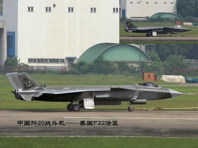 Máy bay tàng hình J 20 với màu sơn của máy bay F-22.