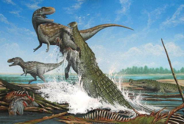 Khủng long cùng thời là một trong những món ăn khoải khẩu của cá sấu Purussaurus