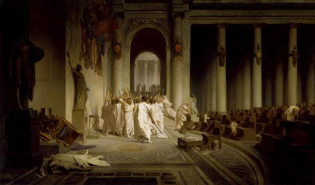 Cái chết của Caesar. Hình: Wikipedia