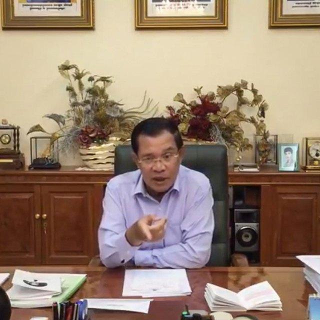 Ông Hun Sen trong bài phát biểu được phát trực tiếp trên Facebook hôm 12/11.