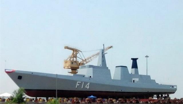 UMS Sinbyushin (F14) - Chiếc thứ hai thuộc lớp trong quá trình thi công đóng mới