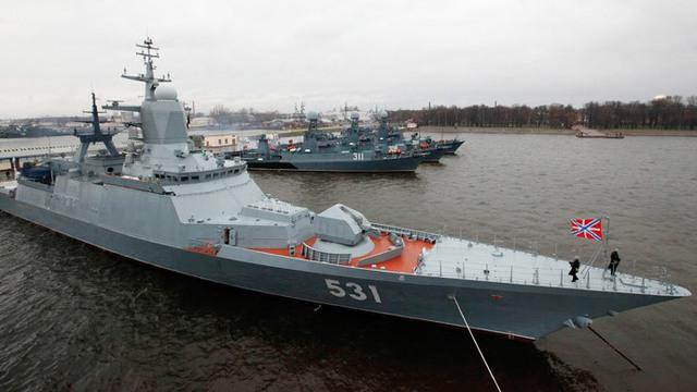 Tàu hộ vệ tên lửa Soobrazitelny lớp Steregushchy Dự án 20381 trang bị hệ thống phòng không tầm xa Redut