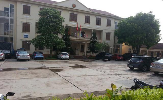 Trụ sở công an huyện Phú Bình, nơi được cho là địa điểm quay video bốn cán bộ đánh bạc