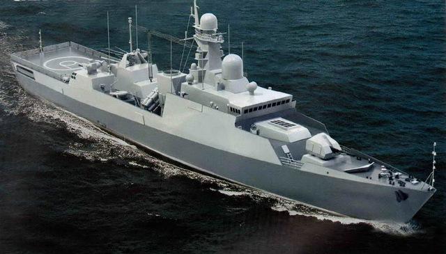 Một mô hình nâng cấp khác của tàu hộ vệ tên lửa Gepard