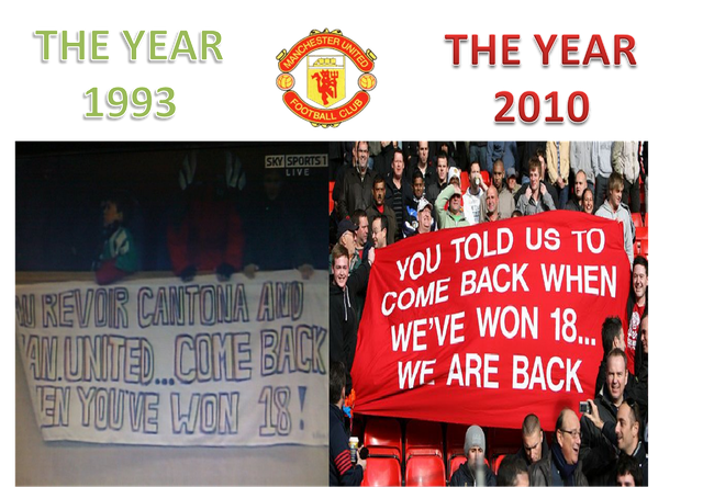 Những CĐV Man United trả đũa vào năm 2010.